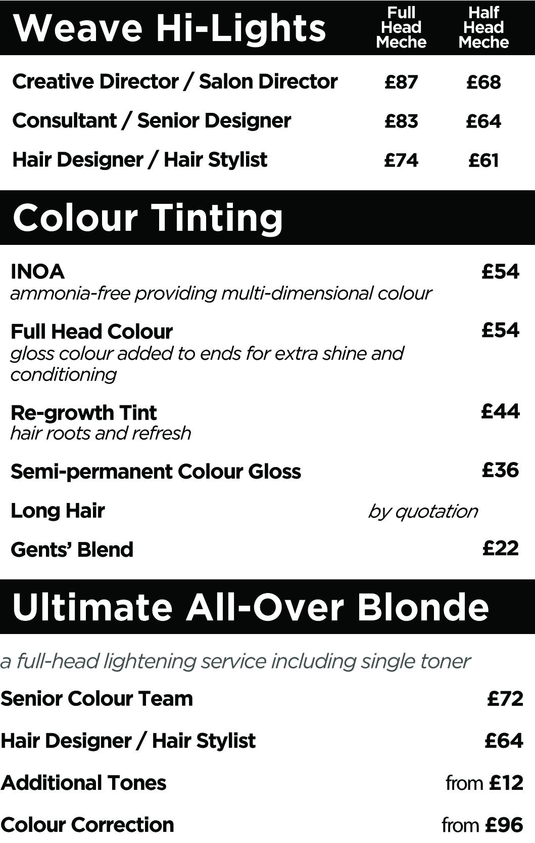2020 - colour menu